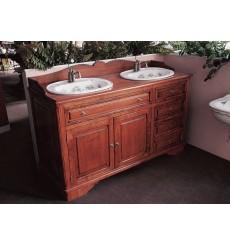 Meuble de Salle de bains CELINE 147 cm pour vasque à poser - 2 p
