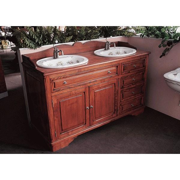 Meuble de salle de bains celine 147 cm pour vasque poser - Meuble pour evier a poser ...
