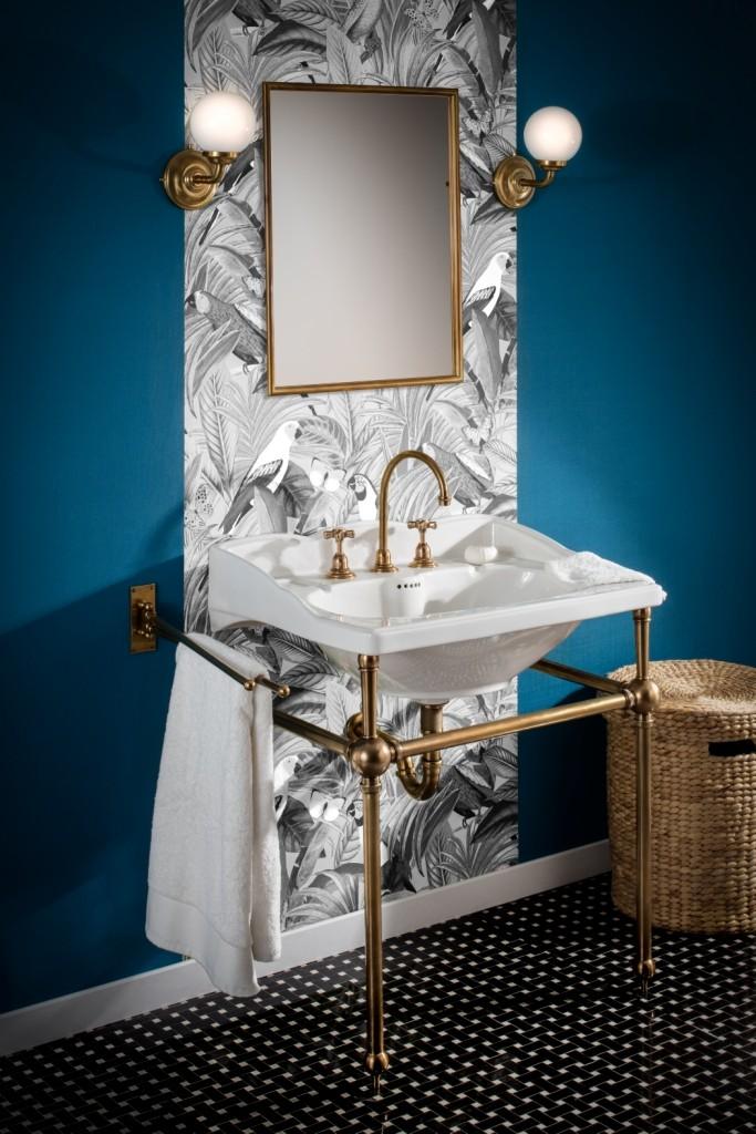 pi tement simple de lavabo empire art deco herbeau. Black Bedroom Furniture Sets. Home Design Ideas