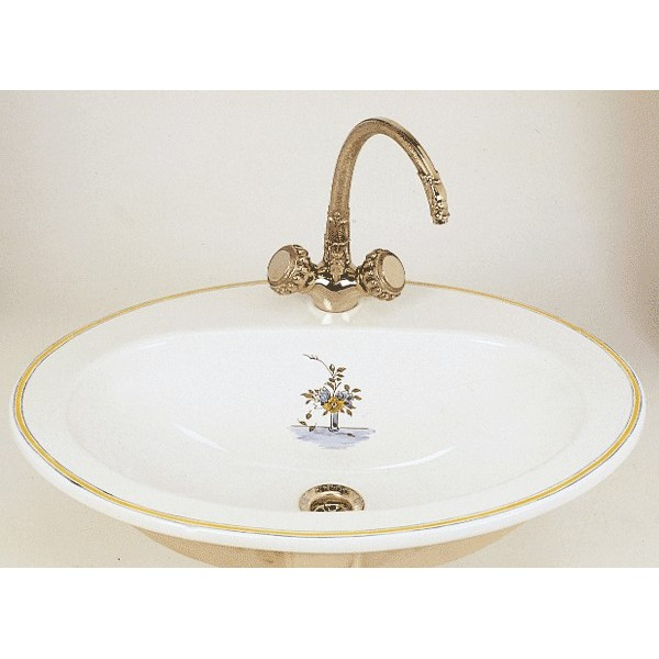 vasque en porcelaine Vasque de Lavabo à poser FLANDRES