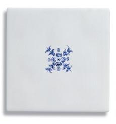 Carrelage mural en Faïence COMTESSE Décor Bérain Bleu