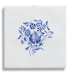Carrelage mural en Faïence COMTESSE Décor Sceau Bleu