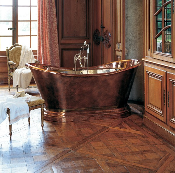 baignoire en cuivre medicis herbeau. Black Bedroom Furniture Sets. Home Design Ideas