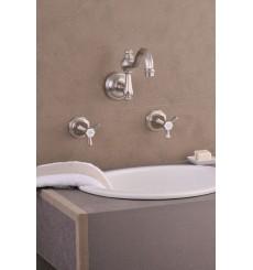 Mélangeur de lavabo 3 Trous mural MONARQUE